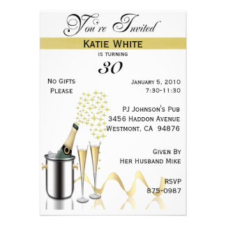 30th Birthday Party Personalized Invitation