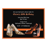 30th Birthday Party Shoes Invitation
