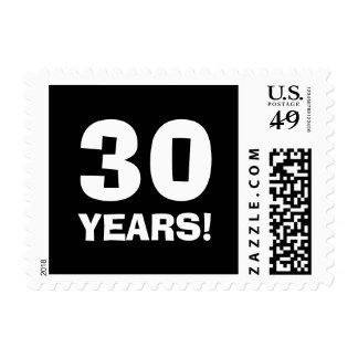 30th Birthday party stamps for thirty year old