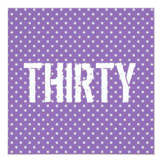 30th Birthday Party Tiny Purple Polka Dots 31 Card