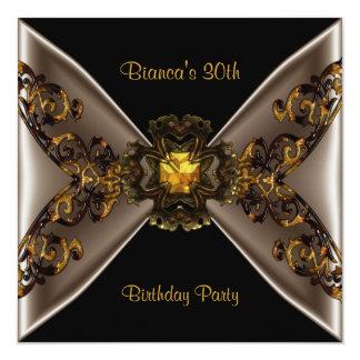 30th Birthday Party Wild Gold Rattan Jewel Card