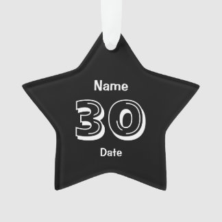 30th Birthday Personalized Gag Gift Ornament