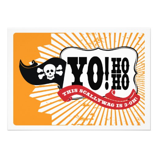 30th Birthday Pirate Party Invitations - Yo Ho Ho