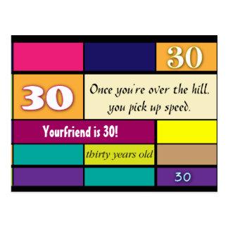 30th Birthday Postcard