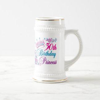30th Birthday Princess Coffee Mugs
