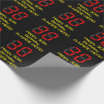 """[ Thumbnail: 30th Birthday: Red Digital Clock Style """"30"""" + Name Wrapping Paper ]"""