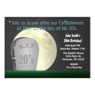 30th Birthday RIP 20s Invitation