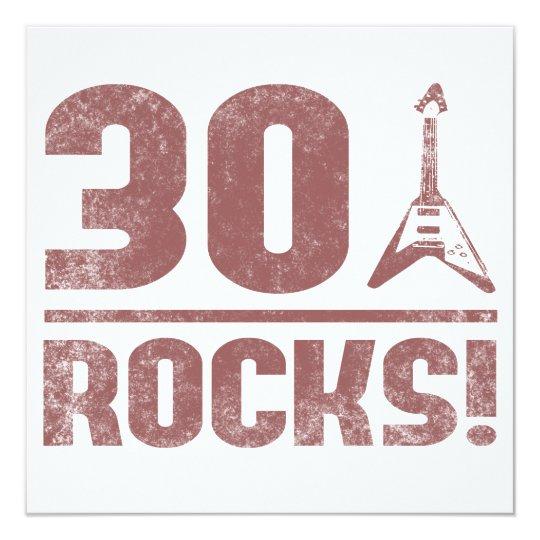 30th Birthday Rocks Card