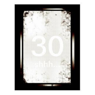 30th Birthday Shhh Minimalist Postcard
