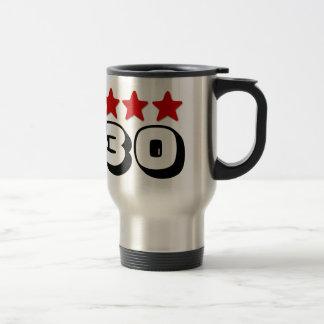 30th Birthday Star Red Black and White Z511 15 Oz Stainless Steel Travel Mug