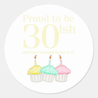 30th Birthday Stickers