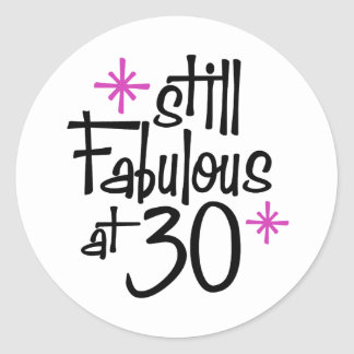 30th Birthday Round Stickers
