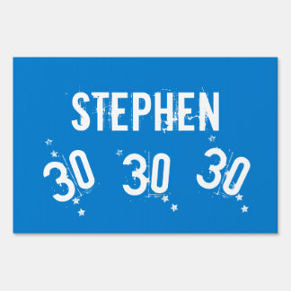 30th Birthday Trendy Grunge Letters Stars Z04 Yard Sign