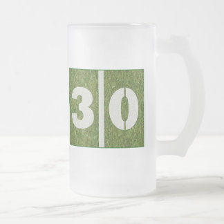 30th Birthday Yard Football Glass Mug