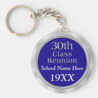 30th Class Reunion Gifts with Your TEXT and COLORS Keychain
