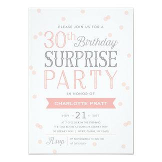 30th Confetti Surprise Party Invitation | Birthday