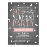 30th Confetti Surprise Party Invitation   Birthday