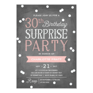 for her 30th birthday invitations zazzle