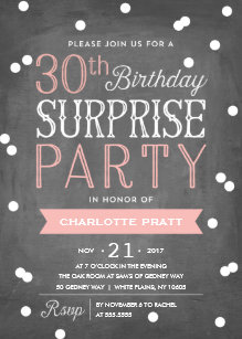 Surprise 30th birthday invitations zazzle 30th confetti surprise party invitation birthday filmwisefo