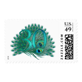 30th decorative artistic number stamps stamp