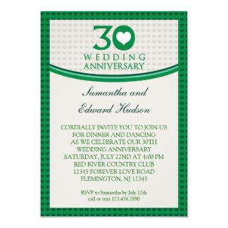 30th Heart Wedding Anniversary Invitation
