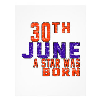 30th June a star was born Customized Letterhead