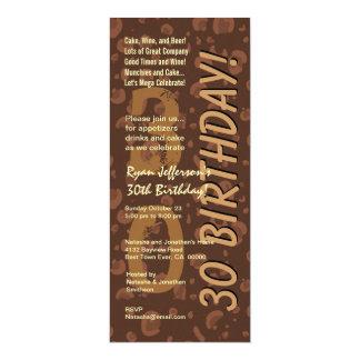30th Modern Birthday Chocolate Coffee Camo Tall Card