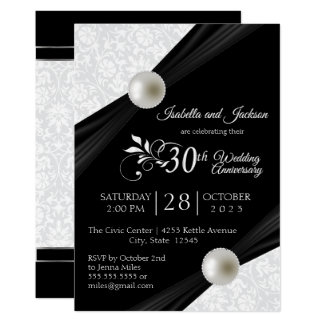 30th Pearl Anniversary Design Card