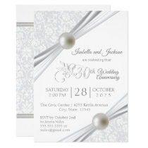 30th Pearl Anniversary Design Invitation
