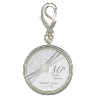 30th Pearl  Anniversary Keepsake Design Charm