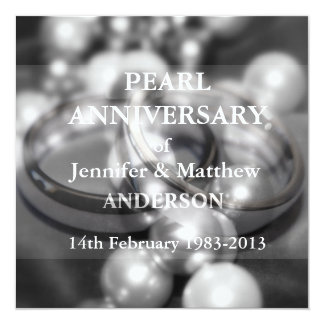 30th Pearl Wedding Anniversary Celebaration(B&W) Card