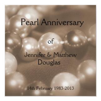 30th Pearl Wedding Anniversary Celebaration Card