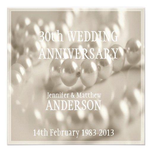 800+ 30th Wedding Anniversary Invitations, 30th Wedding ...