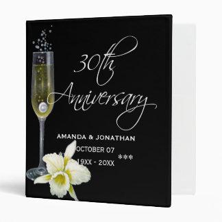 30th Pearl Wedding Anniversary Commemorative 3 Ring Binder
