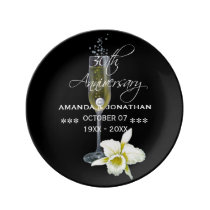 30th Pearl Wedding Anniversary Commemorative Porcelain Plate