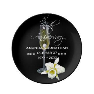 30th Pearl Wedding Anniversary Commemorative Porcelain Plate