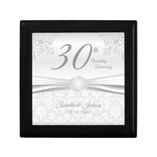 Gifts For A Pearl Wedding Anniversary: 30th Pearl Wedding Anniversary Design Gift Box