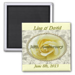 30th. Pearl Wedding Anniversary save the date Magn 2 Inch Square Magnet