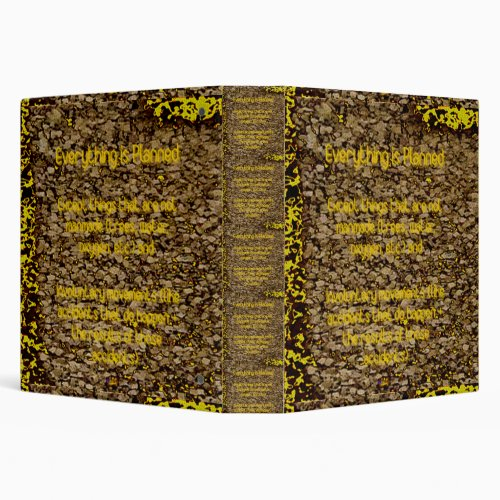 30th Quote Everything is Planned 3 Ring Binder