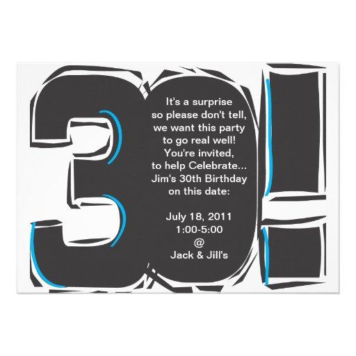 30th SImple Birthday Invite