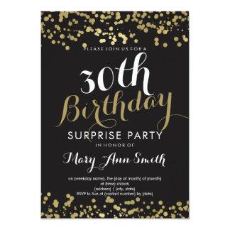30th Surprise Birthday Gold Foil Confetti Card