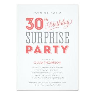 30th Surprise Birthday Invitations