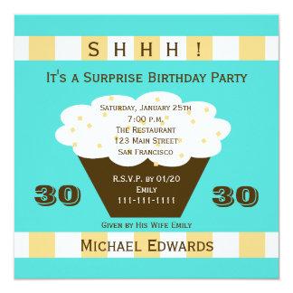 30th Surprise Birthday Party Invitation Cupcake