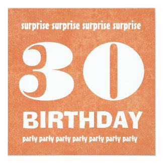 30th Surprise Birthday Party Modern Grunge Invitation