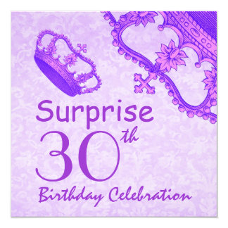 30th SURPRISE Birthday Purple Crown V06C Card