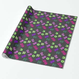 30th thirtieth birthday personalize age wrapping paper