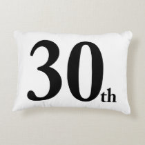 30th This number is for birthdays or anything else Decorative Pillow