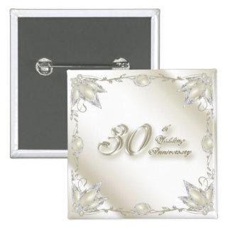 30th Wedding Anniversary Button