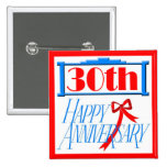 30th Wedding Anniversary Buttons