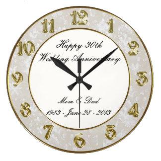 30th Wedding Anniversary Clock